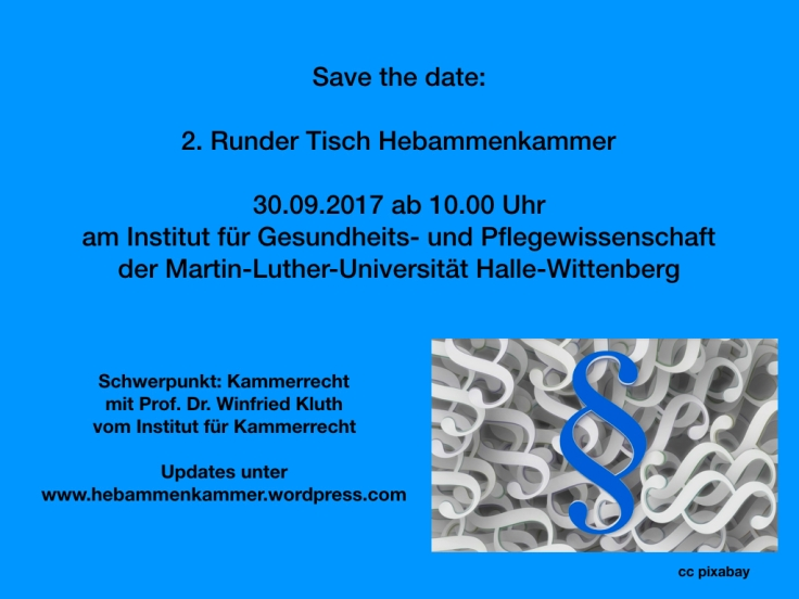 Save the date 2. Runder Tisch Hebammenkammer.001